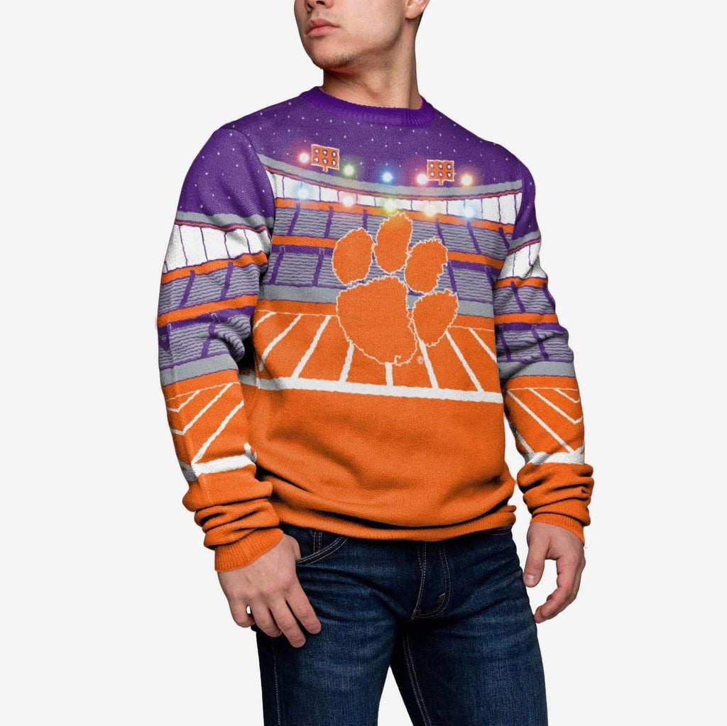 Clemson Tigers Light Up Bluetooth Sweater FOCO M - FOCO.com