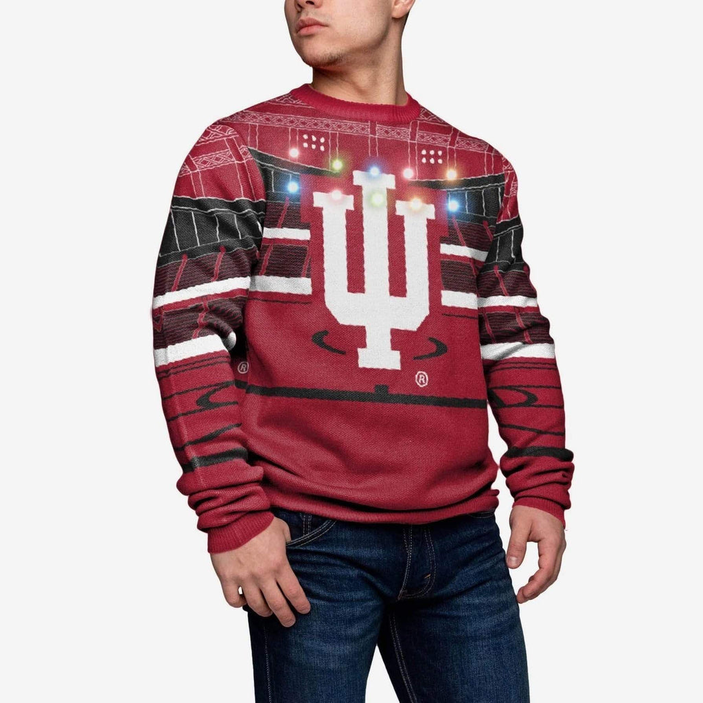 Indiana Hoosiers Light Up Bluetooth Sweater FOCO XL - FOCO.com