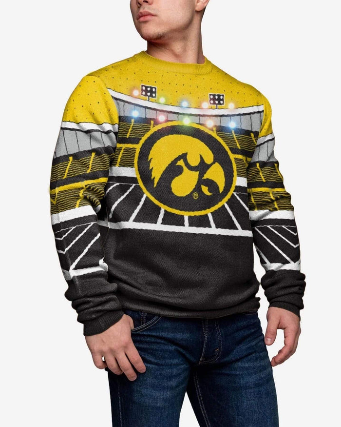 Iowa Hawkeyes Light Up Bluetooth Sweater FOCO M - FOCO.com