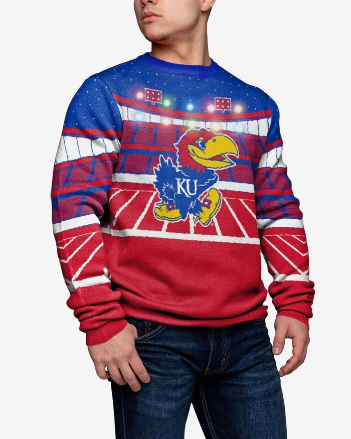 Kansas Jayhawks Light Up Bluetooth Sweater FOCO L - FOCO.com