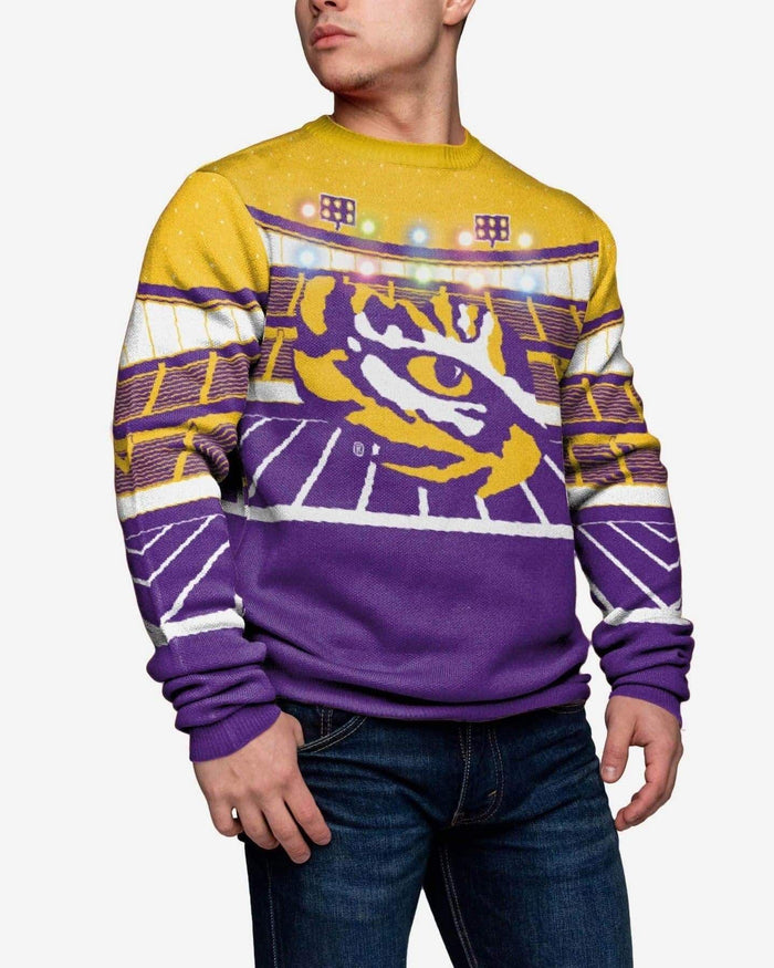 LSU Tigers Light Up Bluetooth Sweater FOCO 2XL - FOCO.com