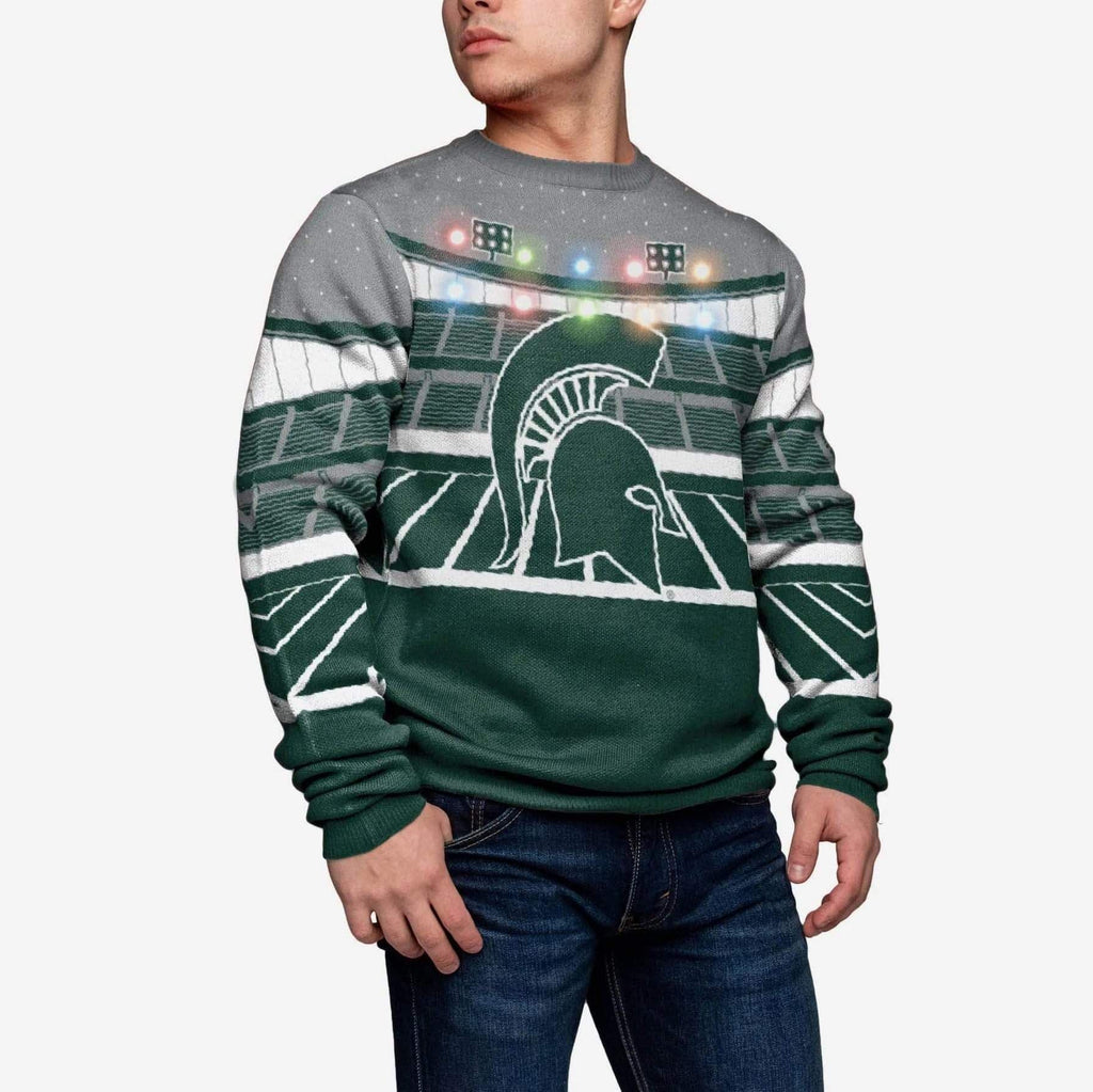 Michigan State Spartans Light Up Bluetooth Sweater FOCO S - FOCO.com