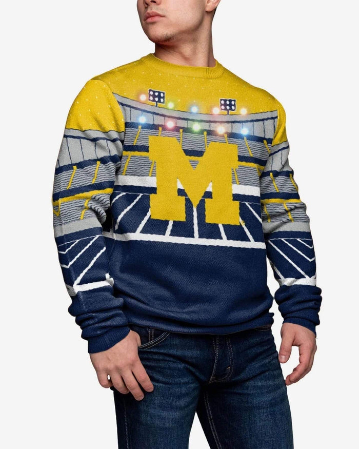 Michigan Wolverines Light Up Bluetooth Sweater FOCO S - FOCO.com