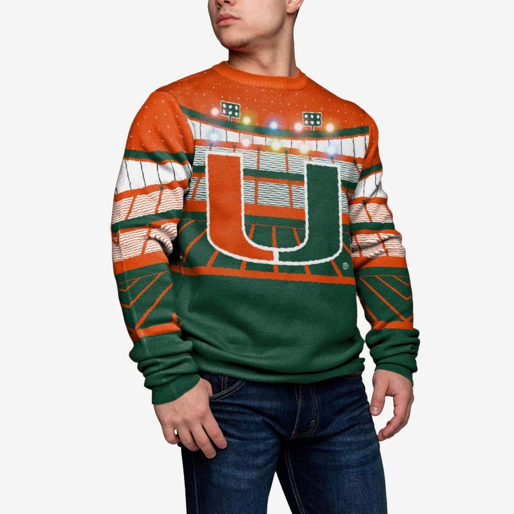 Miami Hurricanes Light Up Bluetooth Sweater