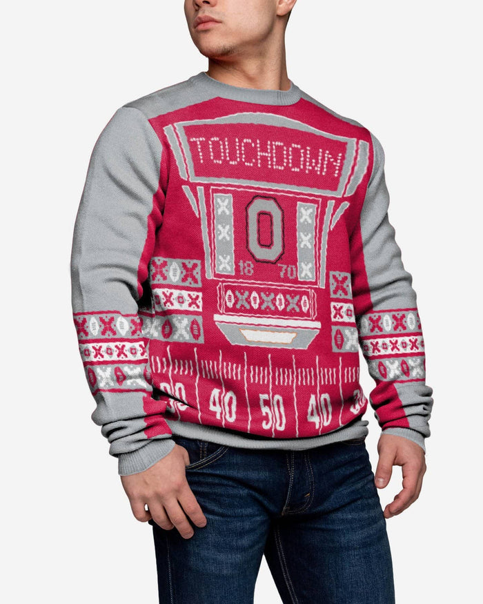 Ohio State Buckeyes Ugly Light Up Sweater FOCO - FOCO.com