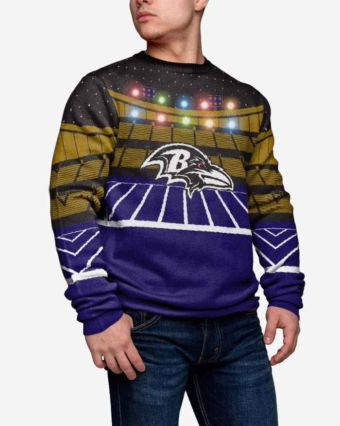 Baltimore Ravens Light Up Bluetooth Sweater FOCO L - FOCO.com