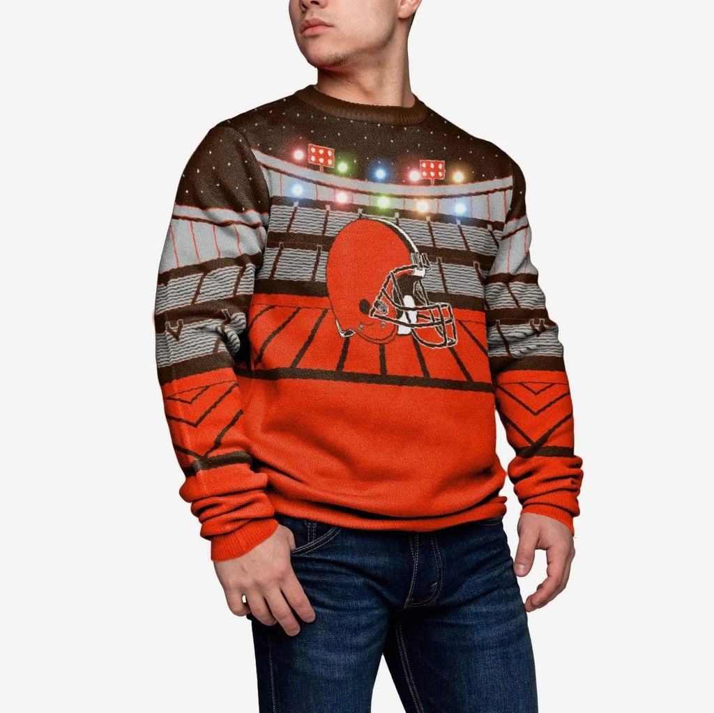 Cleveland Browns Light Up Bluetooth Sweater FOCO 2XL - FOCO.com
