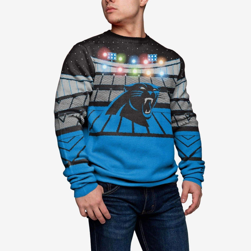Carolina Panthers Light Up Bluetooth Sweater FOCO - FOCO.com