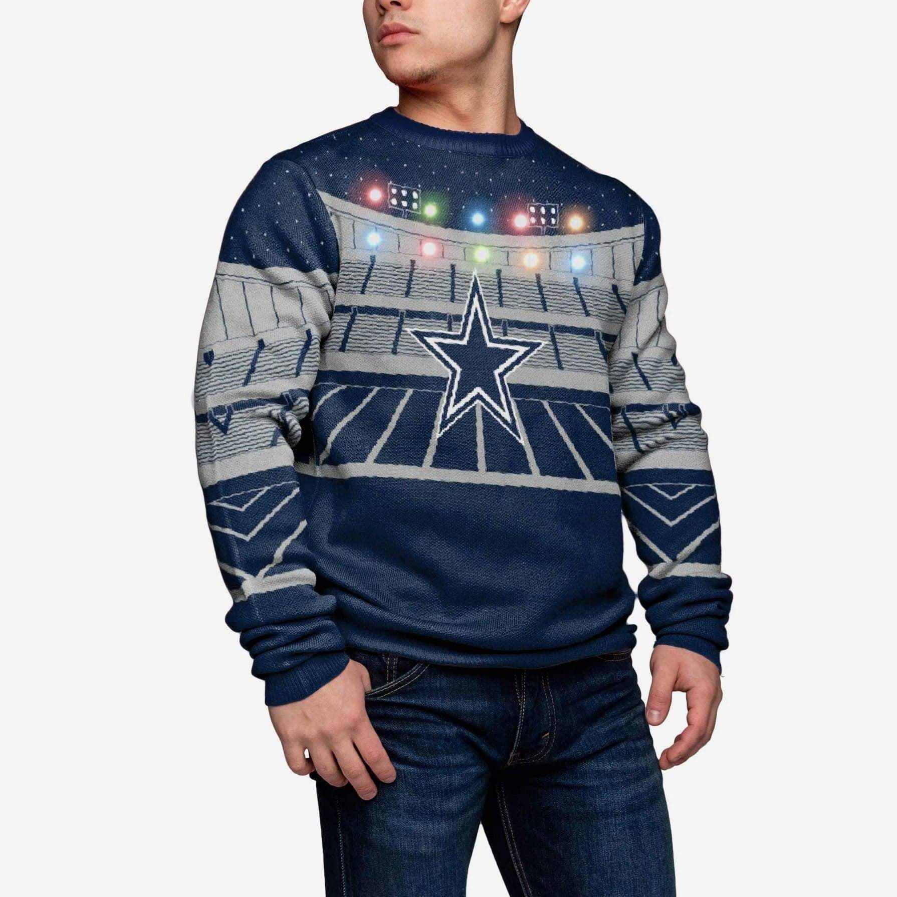 Dallas Cowboys Light Up Bluetooth Sweater FOCO - FOCO.com
