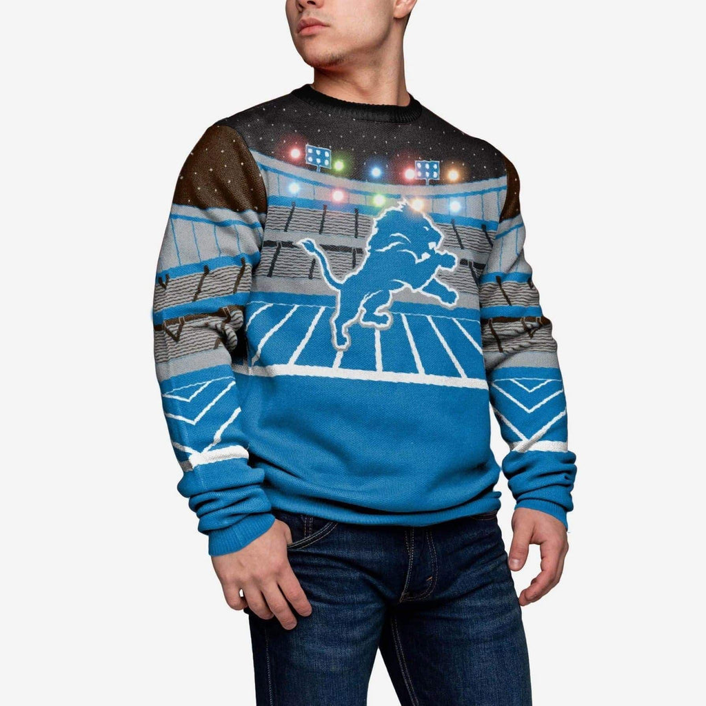 Detroit Lions Light Up Bluetooth Sweater FOCO L - FOCO.com