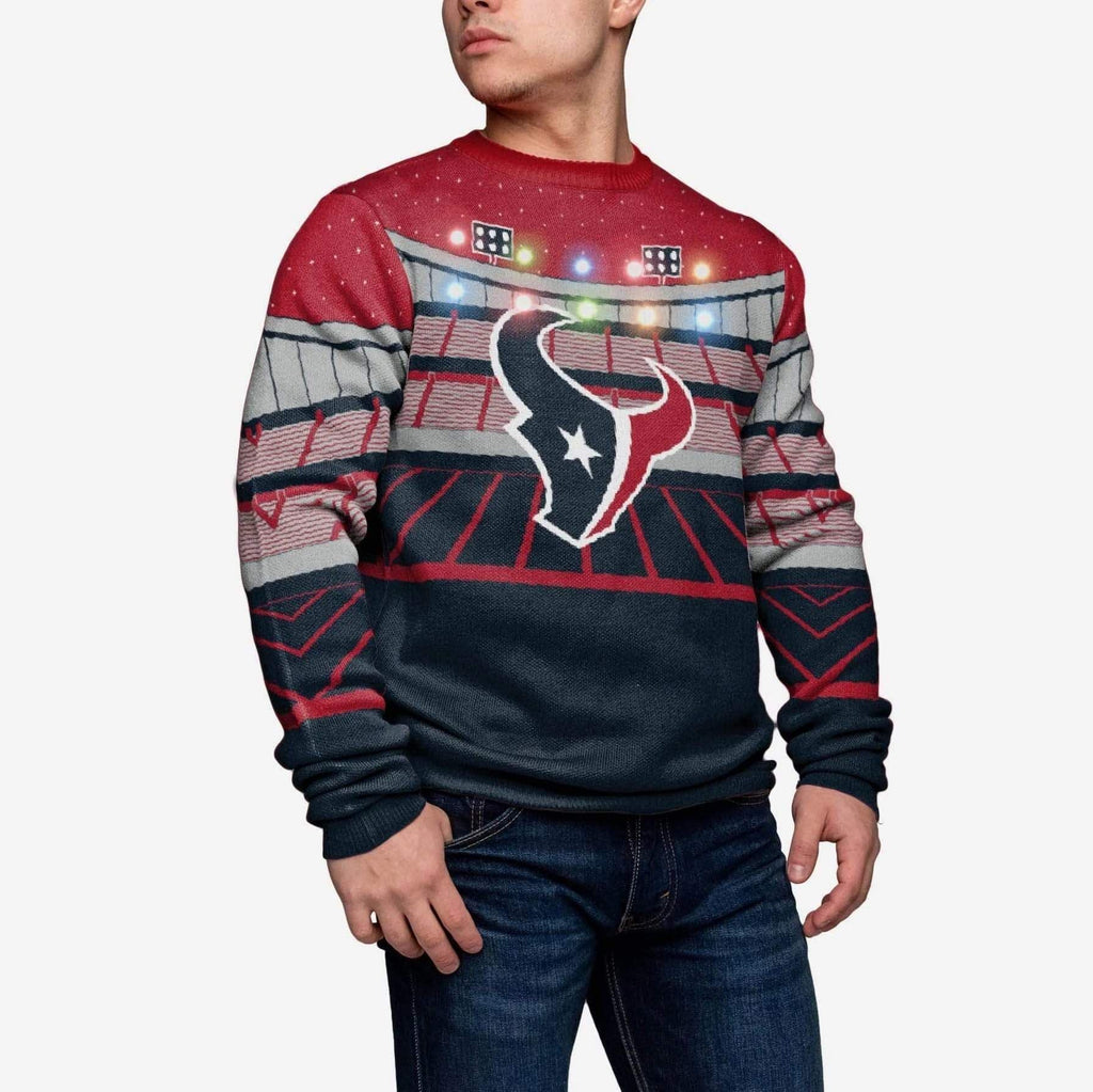 Houston Texans Light Up Bluetooth Sweater fba1a0ffa