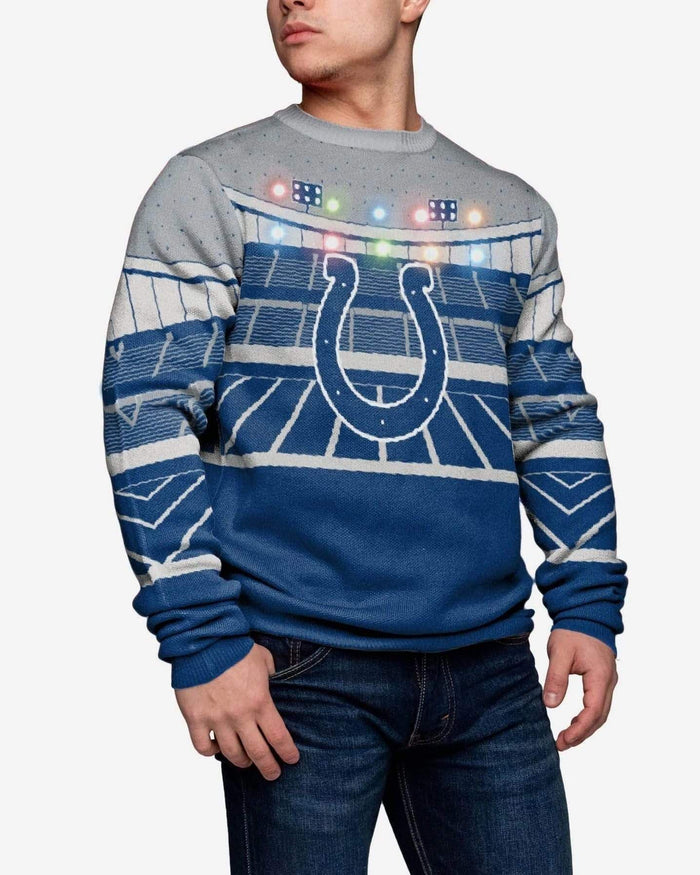 Indianapolis Colts Light Up Bluetooth Sweater FOCO S - FOCO.com