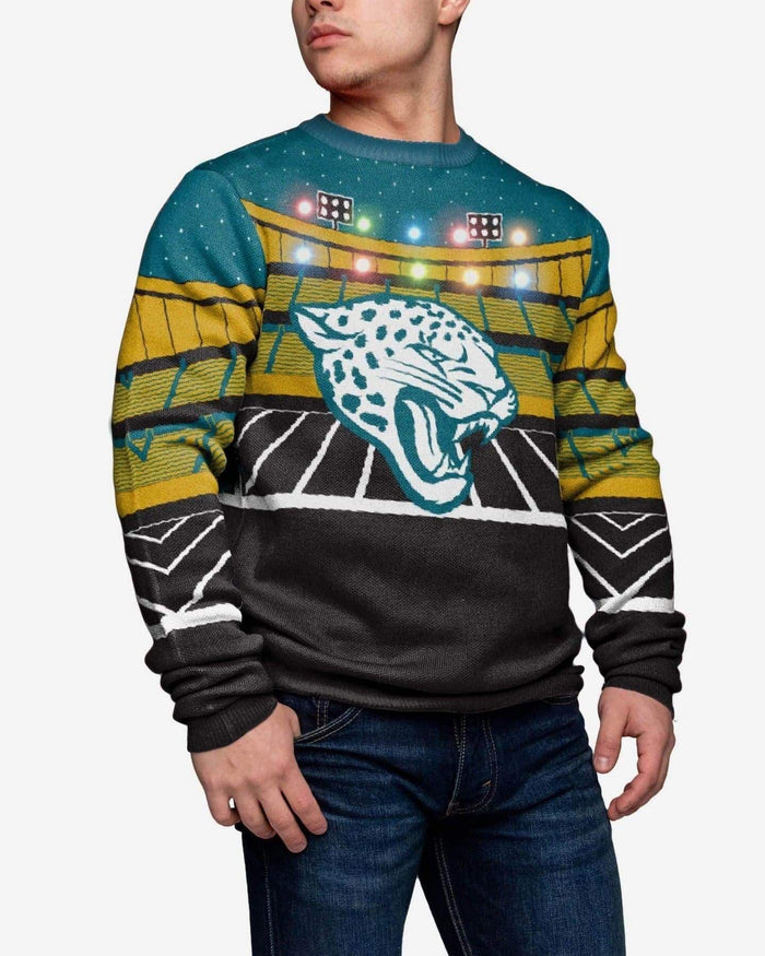 Jacksonville Jaguars Light Up Bluetooth Sweater FOCO L - FOCO.com