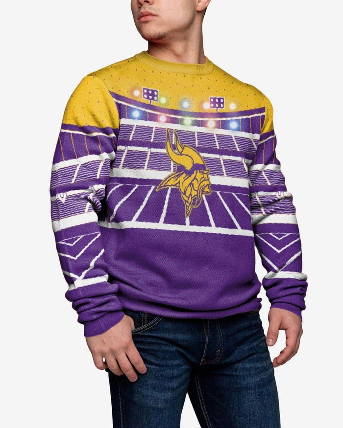 Minnesota Vikings Light Up Bluetooth Sweater FOCO M - FOCO.com