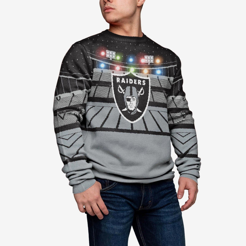 Oakland Raiders Light Up Bluetooth Sweater FOCO L - FOCO.com