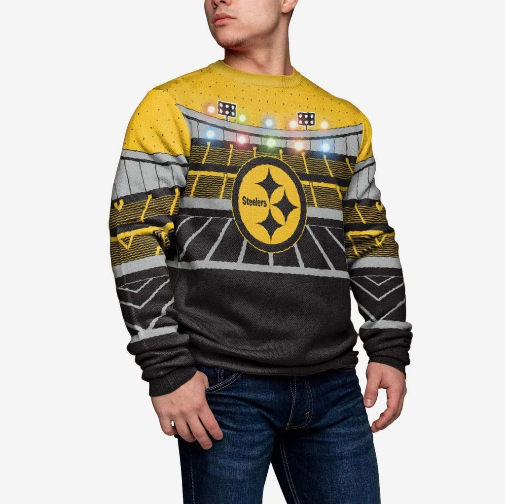 Pittsburgh Steelers Light Up Bluetooth Sweater FOCO M - FOCO.com