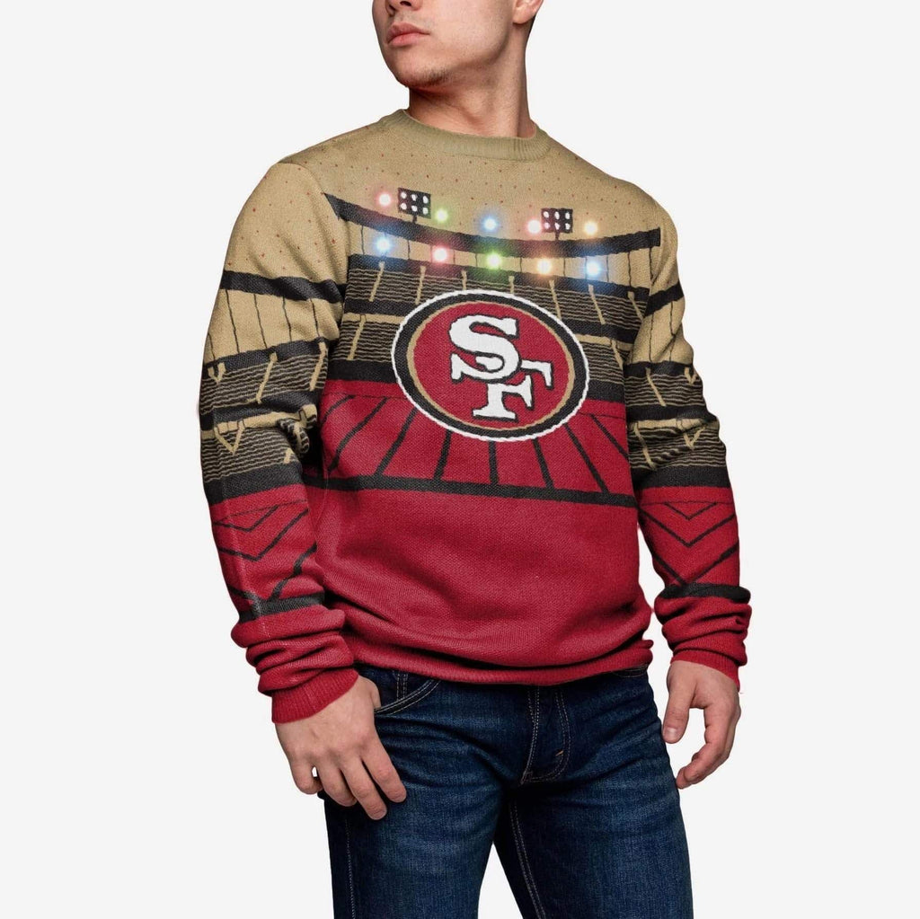 San Francisco 49ers Light Up Bluetooth Sweater