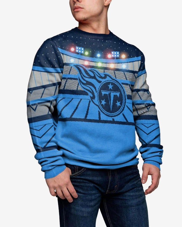 Tennessee Titans Light Up Bluetooth Sweater FOCO L - FOCO.com