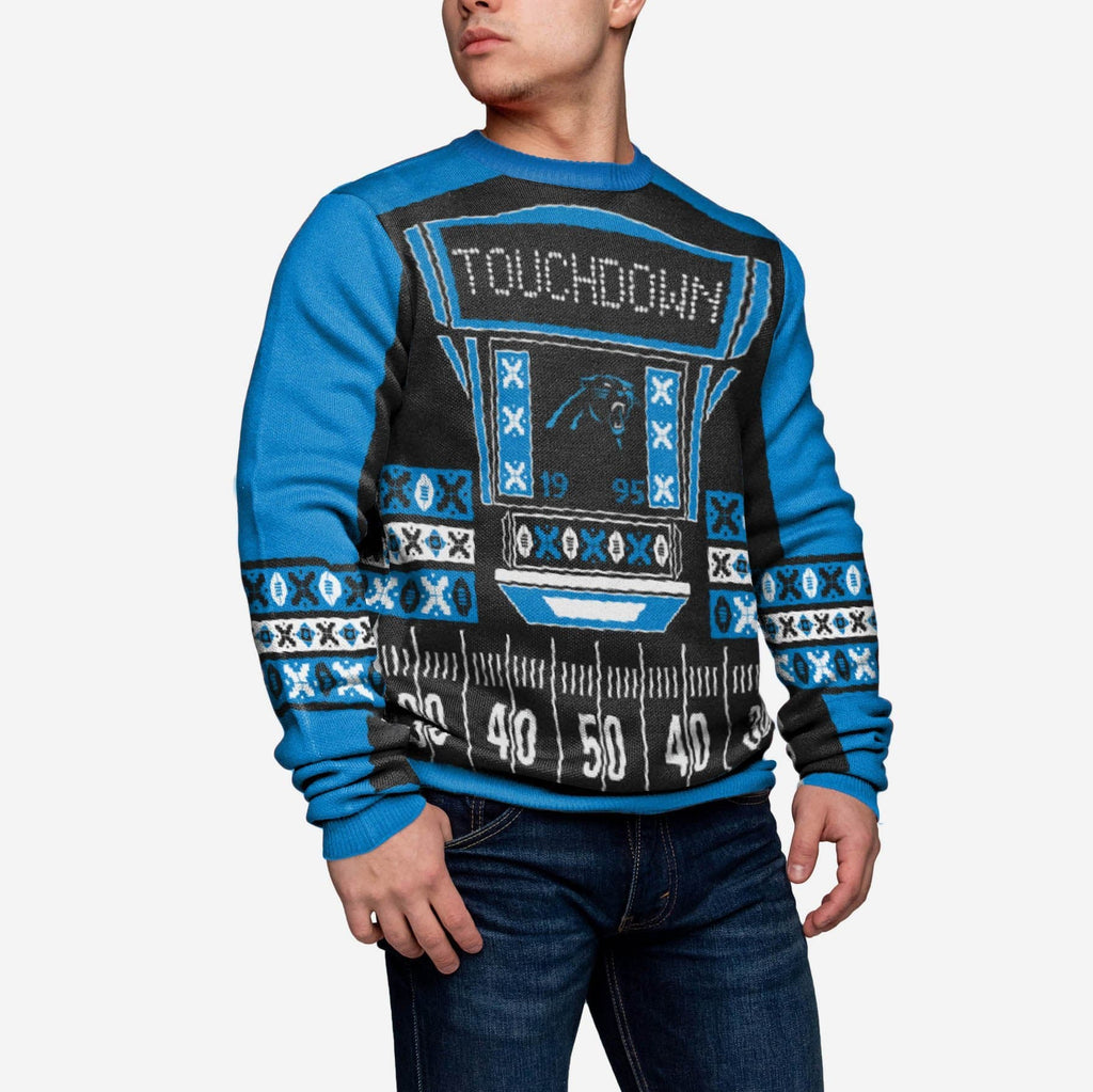 Carolina Panthers Ugly Light Up Sweater FOCO - FOCO.com