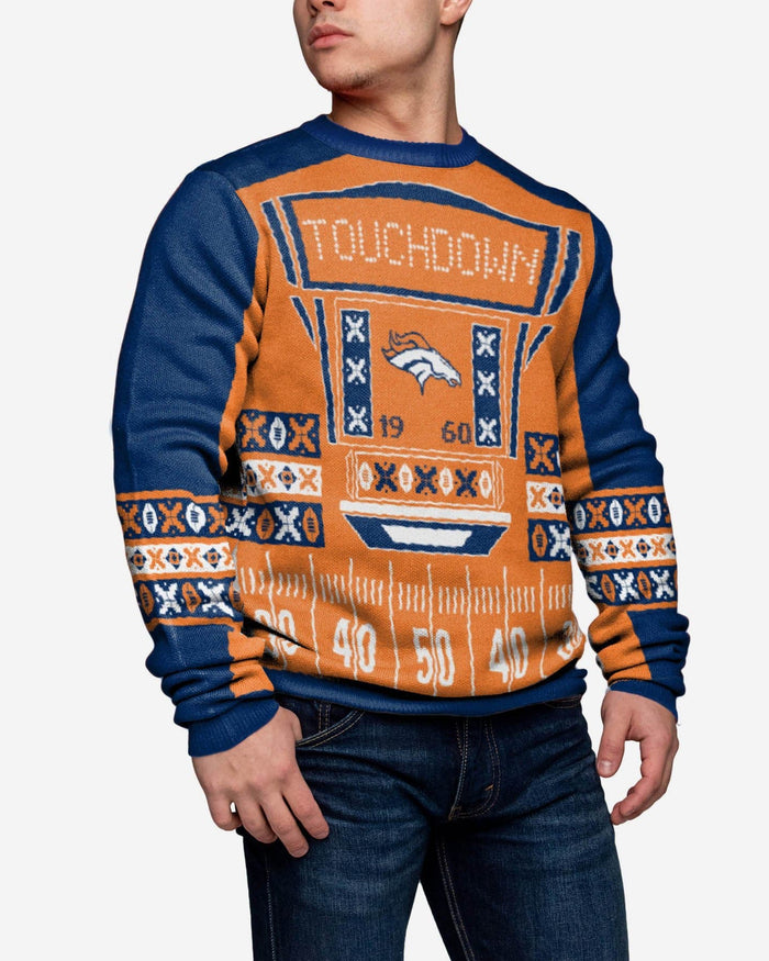 Denver Broncos Ugly Light Up Sweater FOCO - FOCO.com