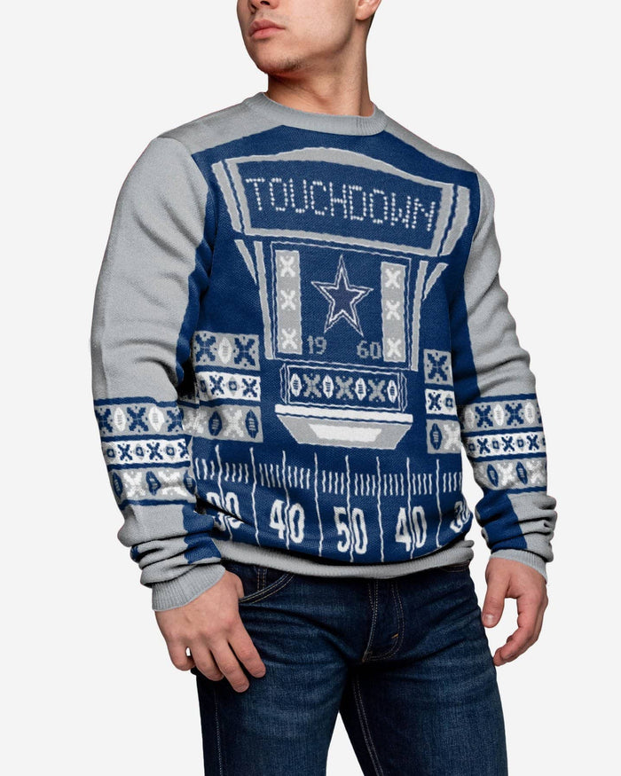 promo code 79a33 ea78f Dallas Cowboys Ugly Light Up Sweater