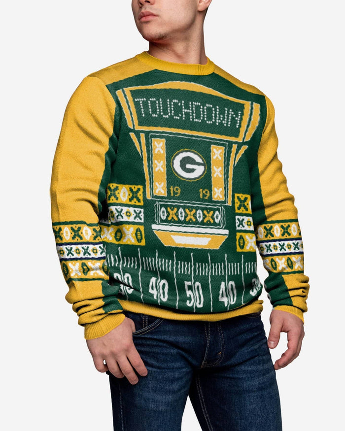 Green Bay Packers Ugly Light Up Sweater FOCO - FOCO.com