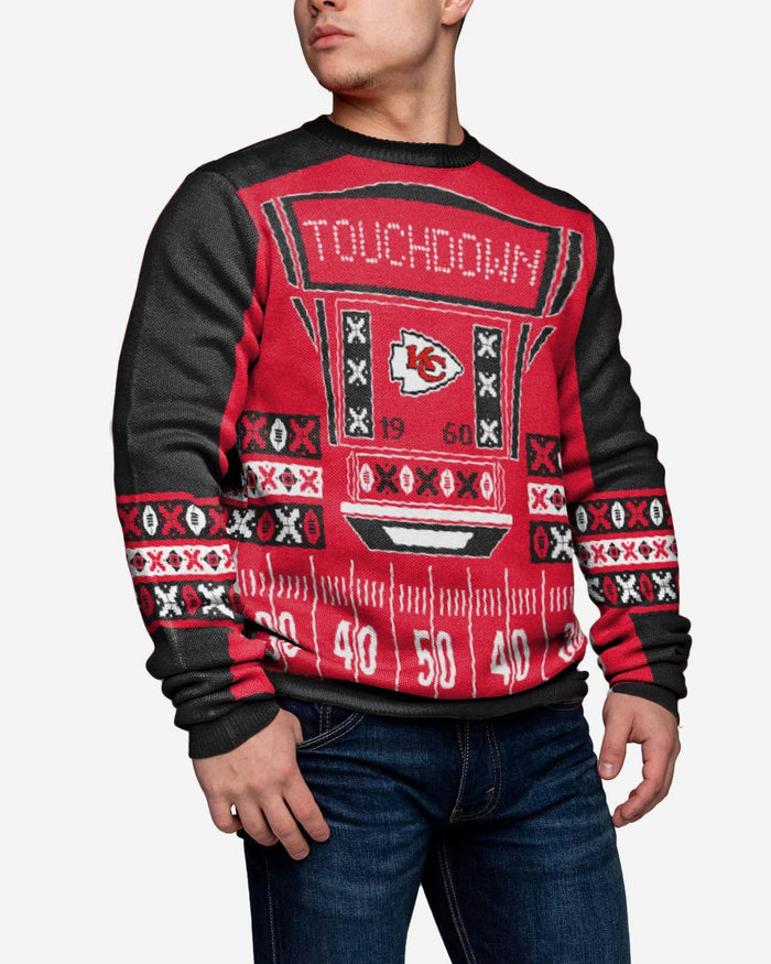 Kansas City Chiefs Ugly Light Up Sweater FOCO - FOCO.com
