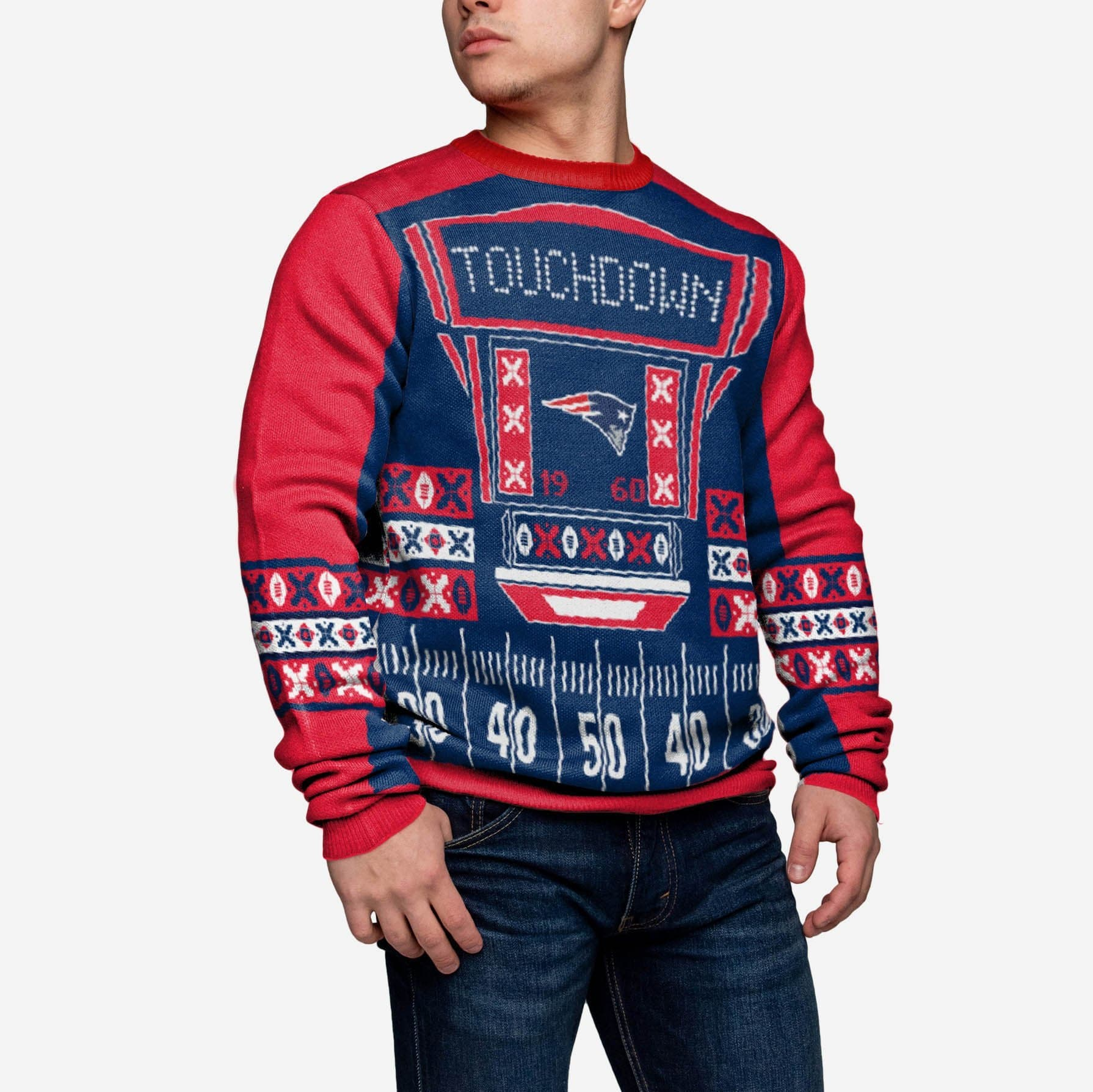 FOCO NCAA Light Up Ugly Sweater