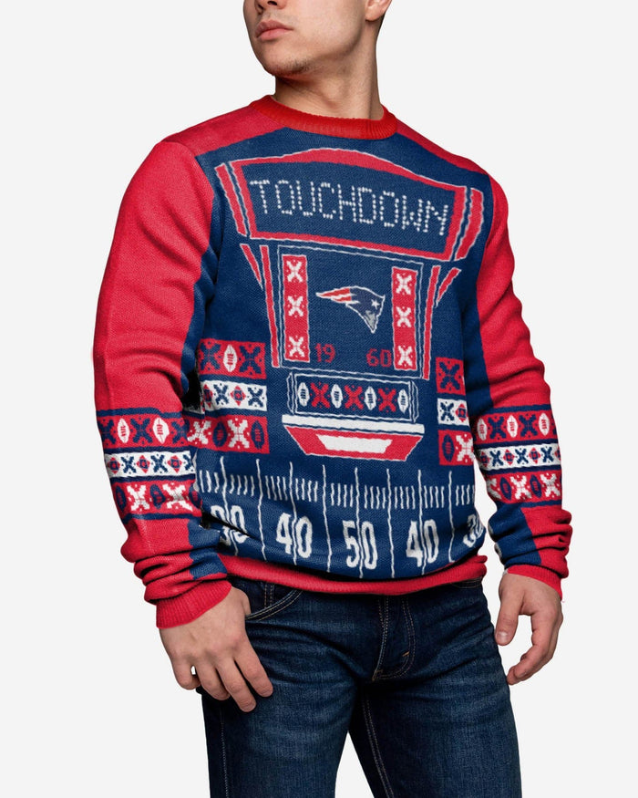 New England Patriots Ugly Light Up Sweater FOCO - FOCO.com