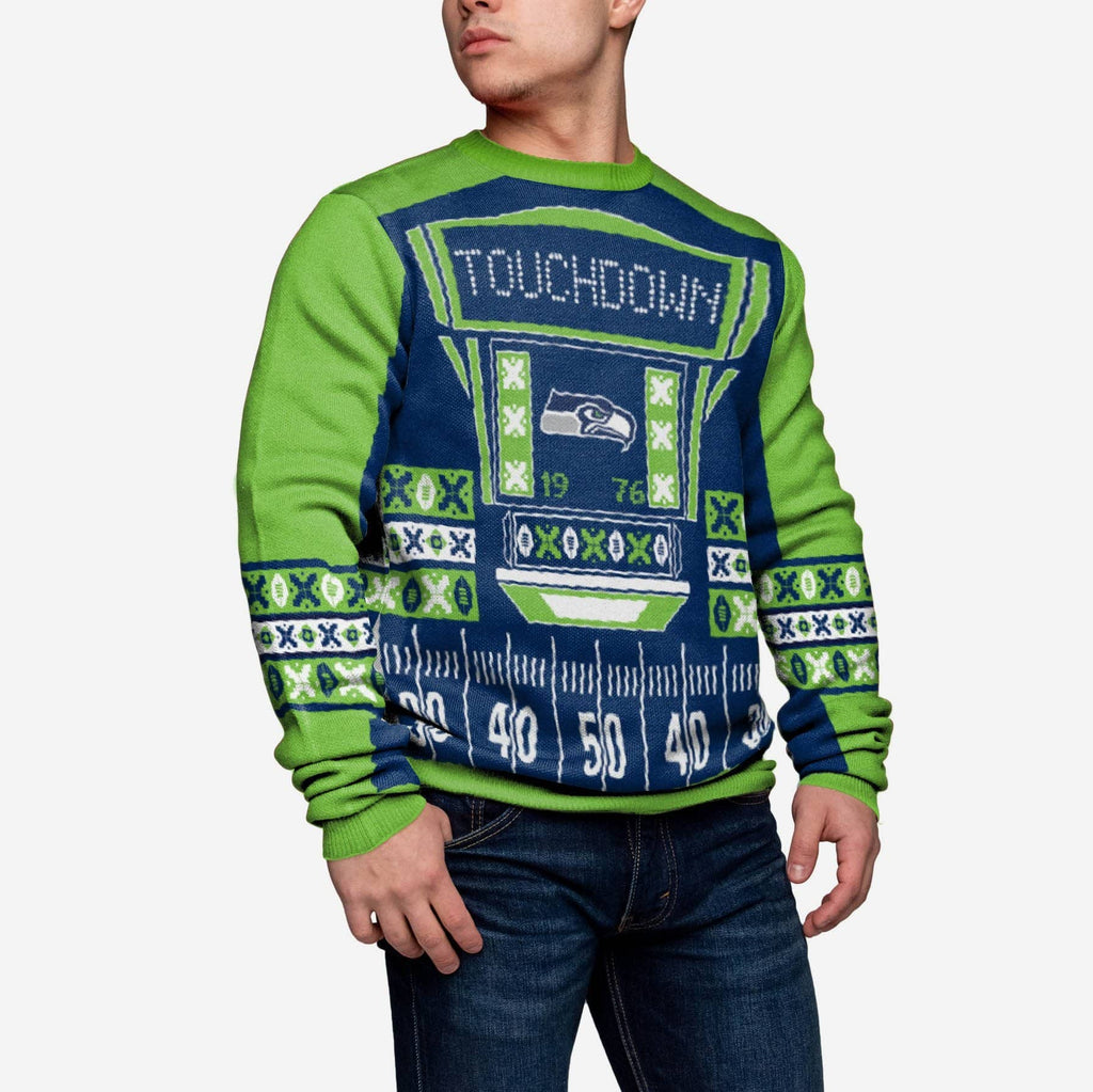 Seattle Seahawks Ugly Light Up Sweater FOCO - FOCO.com