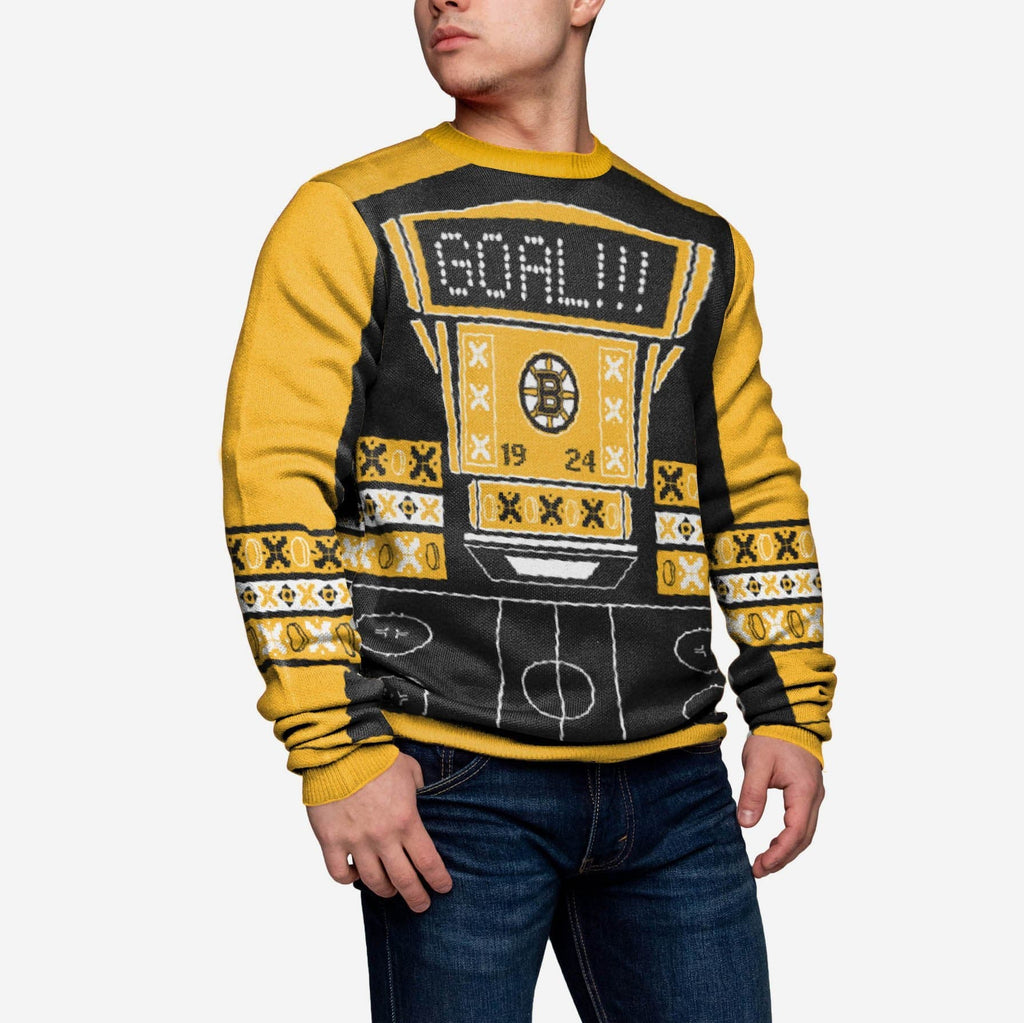 Boston Bruins Ugly Light Up Sweater FOCO - FOCO.com