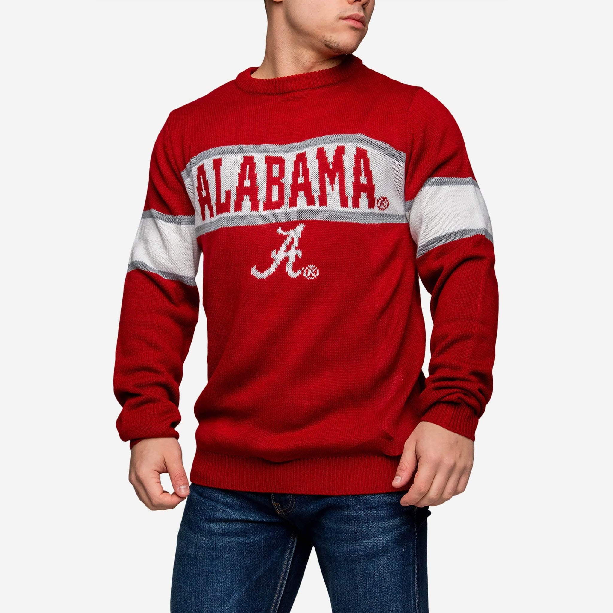 Alabama Crimson Tide Vintage Stripe Sweater FOCO - FOCO.com