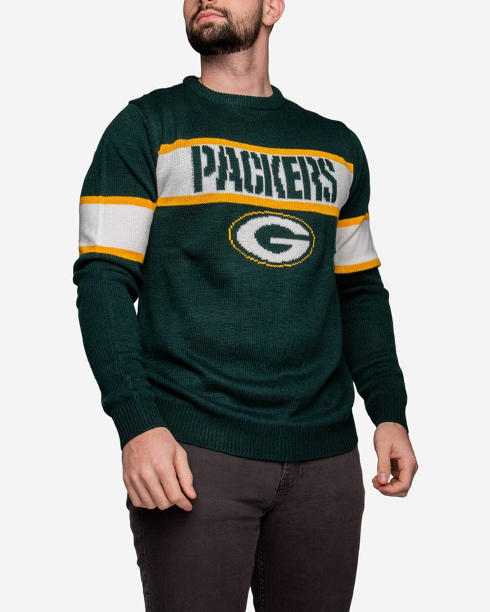 Green Bay Packers Vintage Stripe Sweater FOCO - FOCO.com