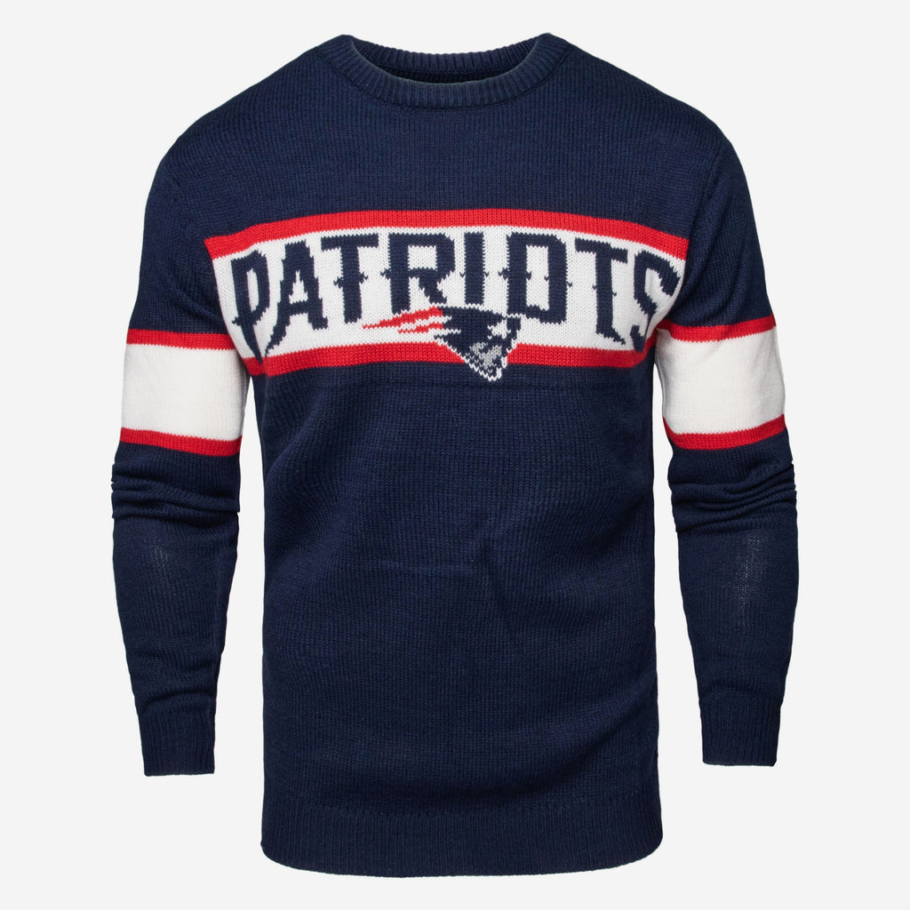 New England Patriots Vintage Stripe Sweater