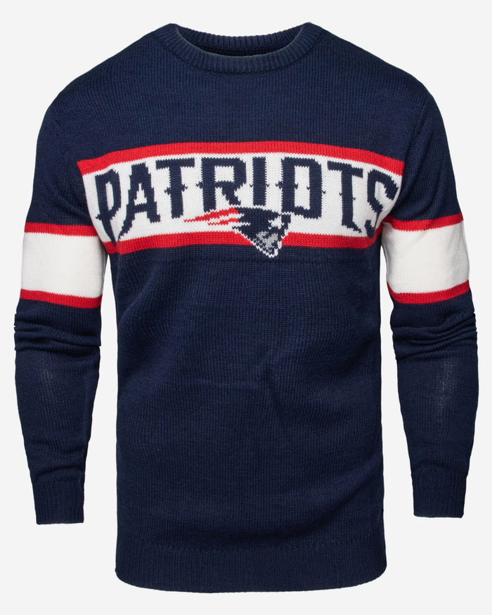 innovative design 6dab8 ef26d New England Patriots Vintage Stripe Sweater