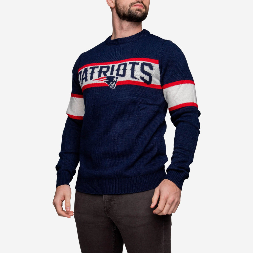 New England Patriots Vintage Stripe Sweater FOCO - FOCO.com