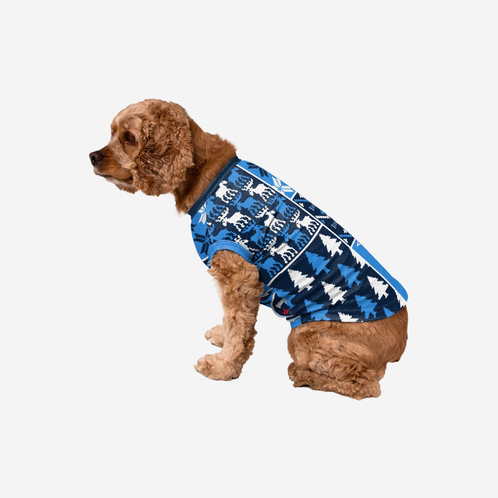 Tennessee Titans Busy Block Dog Sweater FOCO XS - FOCO.com