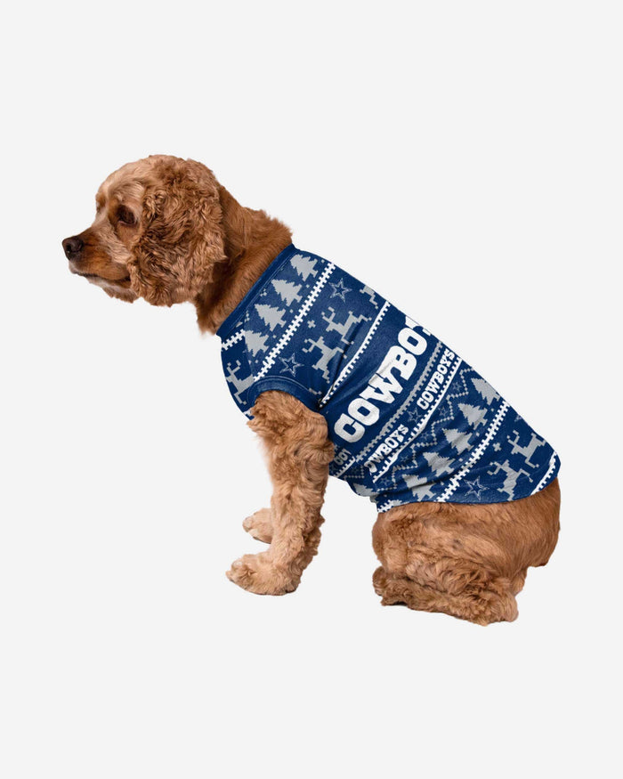 Dallas Cowboys Dog Family Holiday Sweater FOCO S - FOCO.com