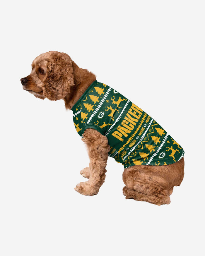 Green Bay Packers Dog Family Holiday Sweater FOCO S - FOCO.com