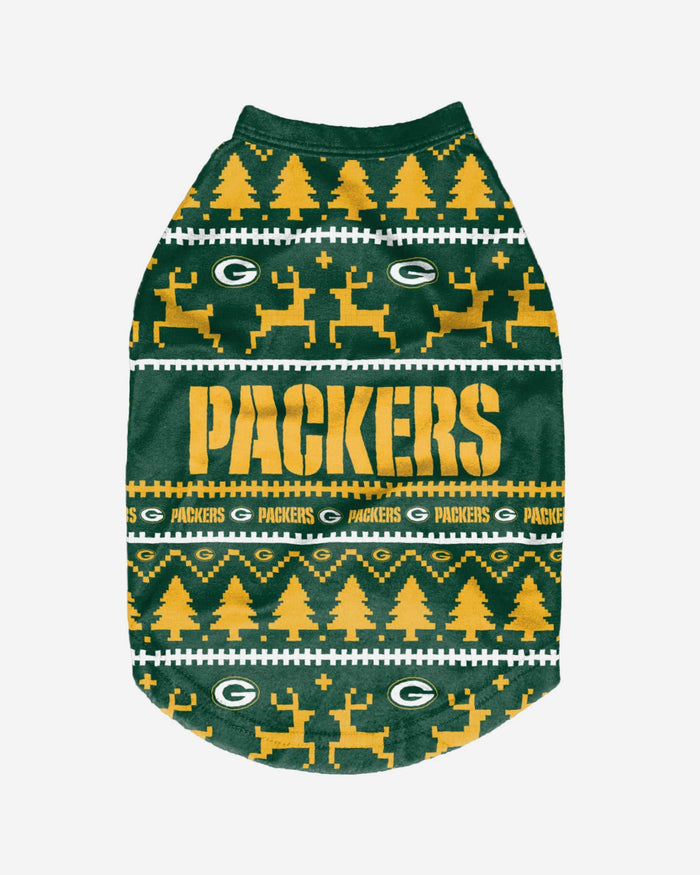 Green Bay Packers Dog Family Holiday Sweater FOCO - FOCO.com