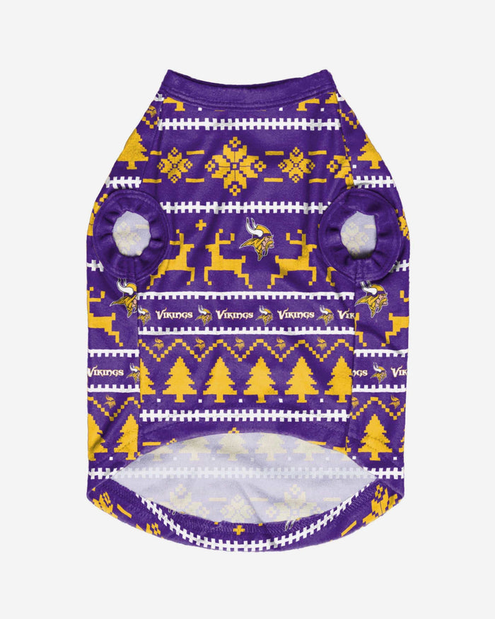 Minnesota Vikings Dog Family Holiday Sweater FOCO - FOCO.com