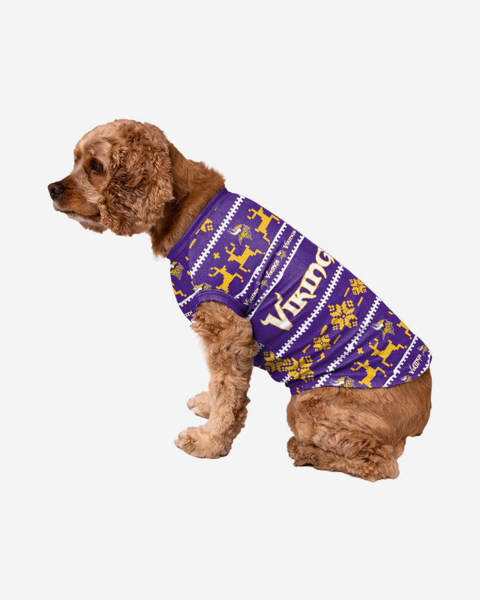 Minnesota Vikings Dog Family Holiday Sweater FOCO S - FOCO.com