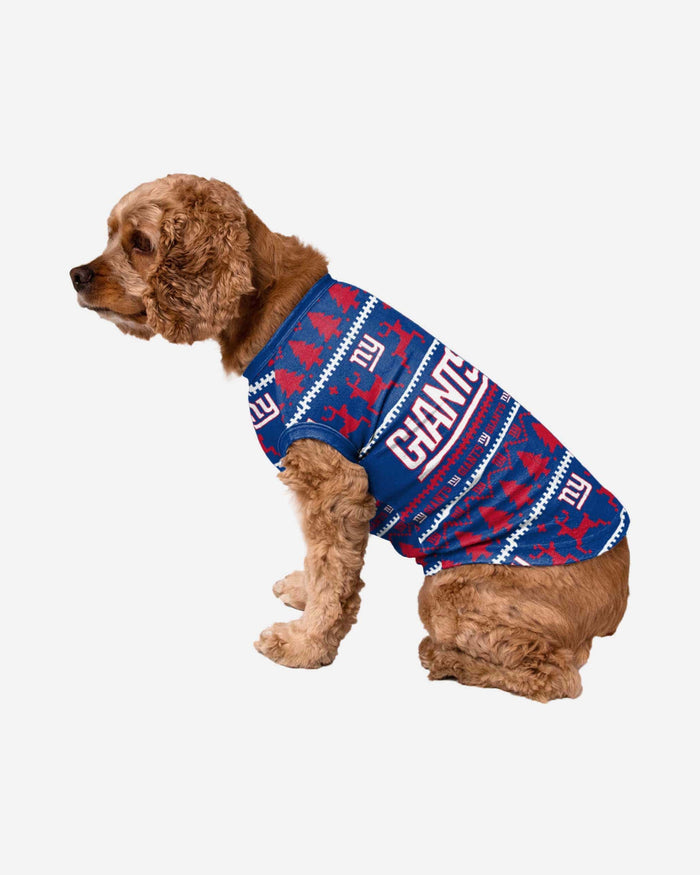 New York Giants Dog Family Holiday Sweater FOCO S - FOCO.com