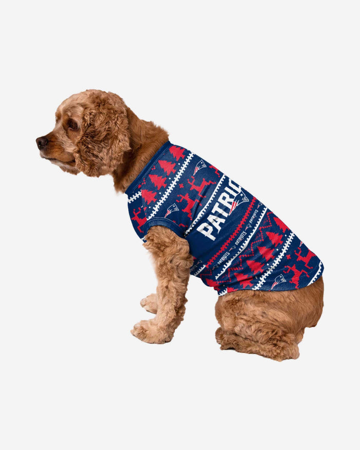 New England Patriots Dog Family Holiday Sweater FOCO S - FOCO.com