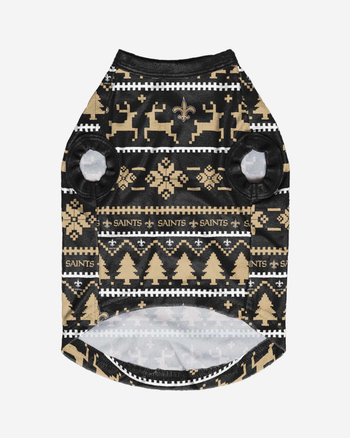 New Orleans Saints Dog Family Holiday Sweater FOCO - FOCO.com