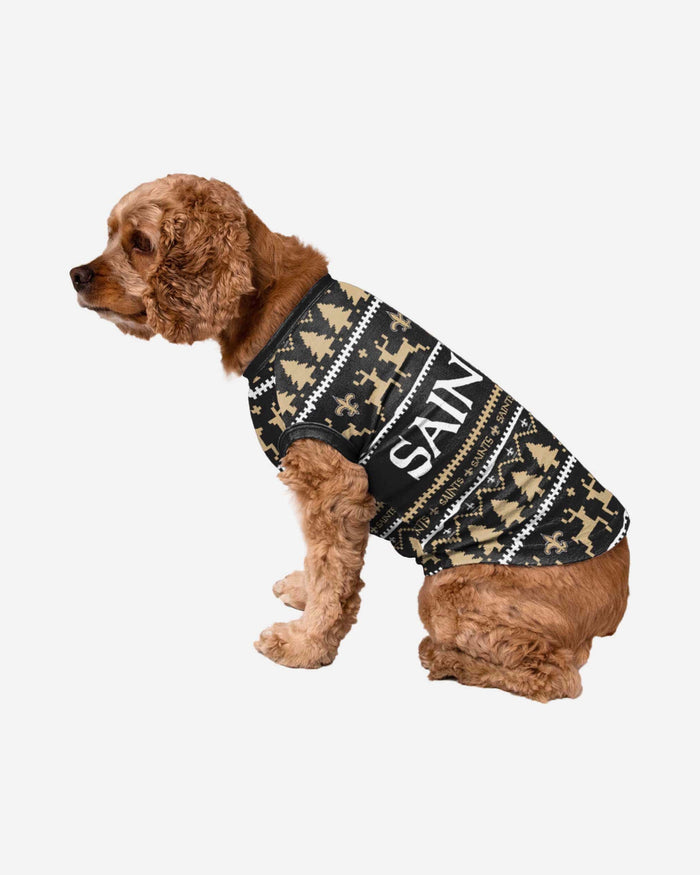 New Orleans Saints Dog Family Holiday Sweater FOCO S - FOCO.com