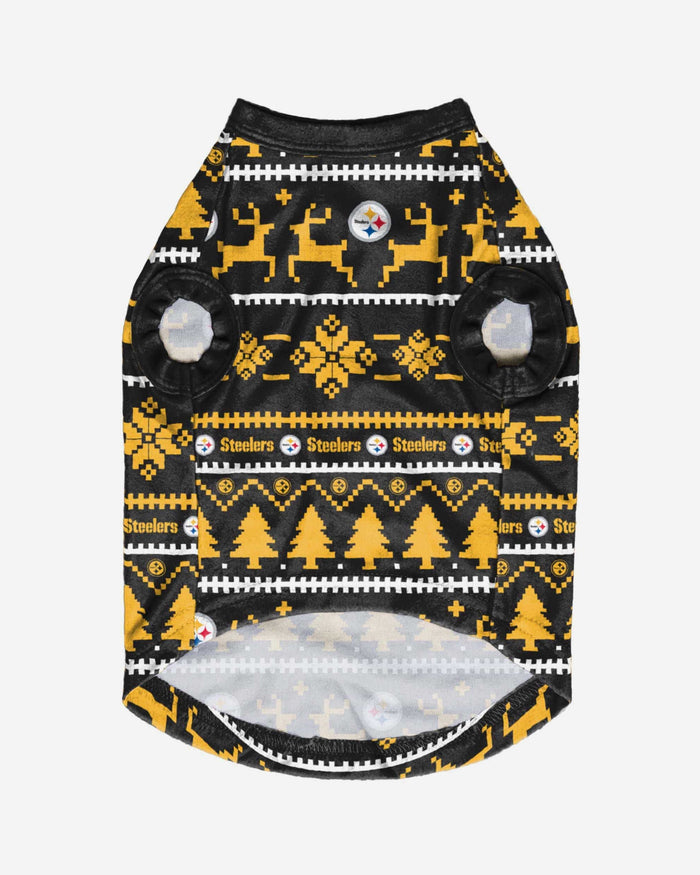 Pittsburgh Steelers Dog Family Holiday Sweater FOCO - FOCO.com