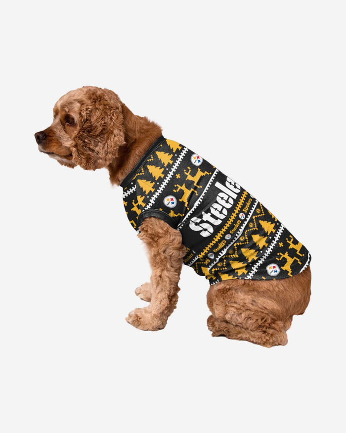 Pittsburgh Steelers Dog Family Holiday Sweater FOCO S - FOCO.com