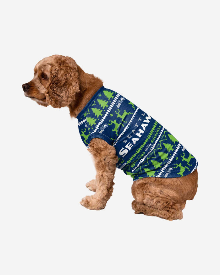 Seattle Seahawks Dog Family Holiday Sweater FOCO S - FOCO.com