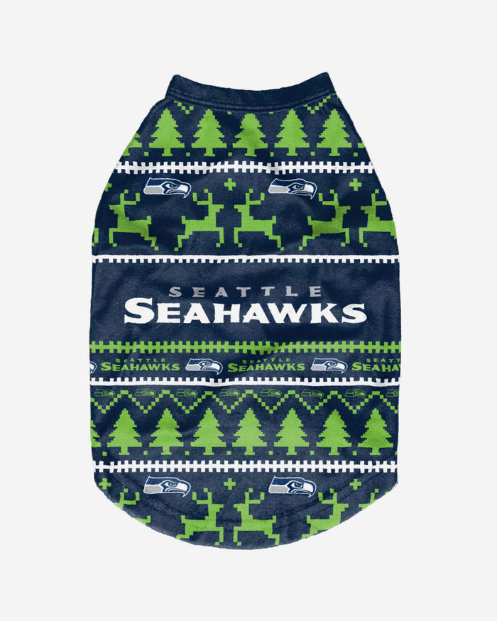 Seattle Seahawks Dog Family Holiday Sweater FOCO - FOCO.com